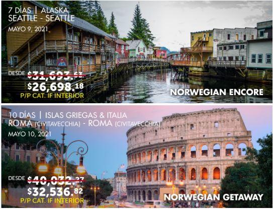 norwegian cruise line promociones