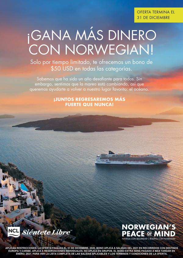 Aprovecha las ofertas de esta semana con Royal Caribbean y Norwegian Cruise Line