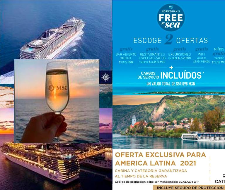 promociones MSC Cruceros, NCL, AMAWATERWAYS