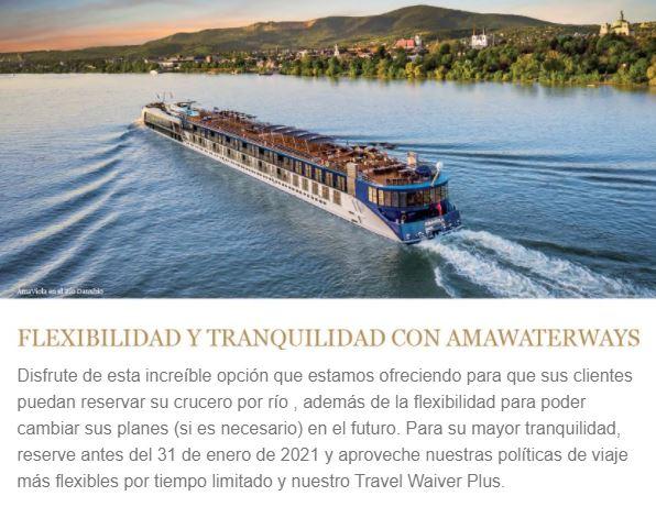 AMA WATERWAYS FLEXIBILIDAD Y TRANQUILIDAD