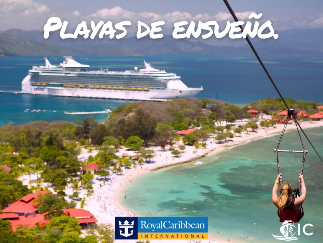 Royal Caribbean, obtienes mucho más de lo que pagas, playas de ensueño
