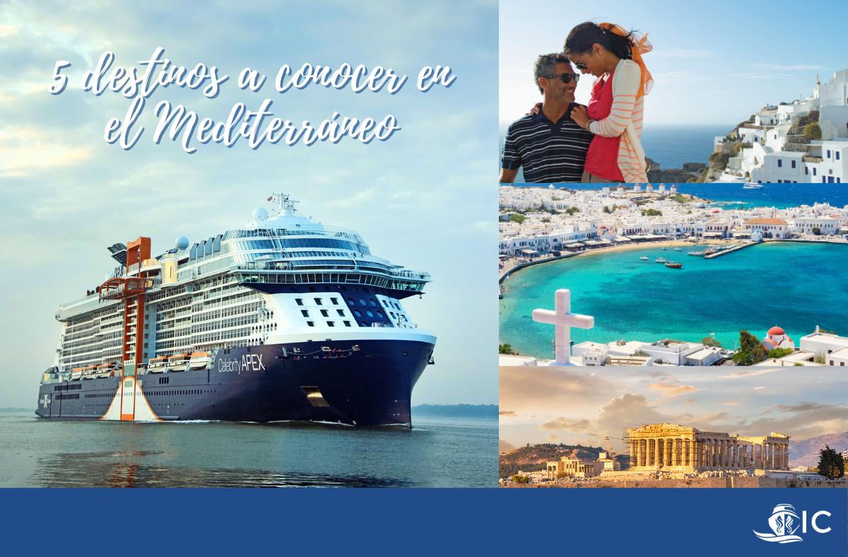 Destinos en el Mediterráneo con Celebrity Apex