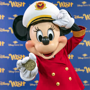 Disney Cruise Line, capitán Minnie